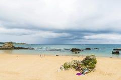 Пляж El Sardinero в Сантандере, Испании Стоковая Фотография RF