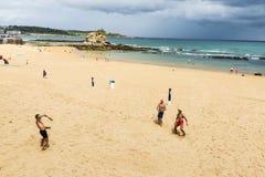 Пляж El Sardinero в Сантандере, Испании Стоковая Фотография