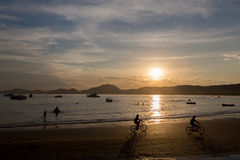 Пляж Enseada, Guaruja, Бразилия стоковое фото rf