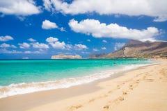 Пляж Falassarna, Крит Стоковые Изображения