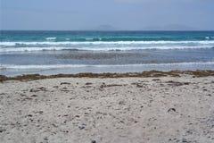 Пляж Famara, Лансароте, остров canarias Стоковые Фото