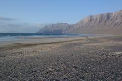 Пляж Famara, Лансароте, остров canarias Стоковое Фото