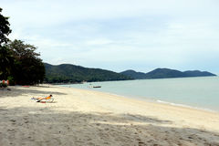 Пляж ferringhi Batu Стоковое Изображение RF