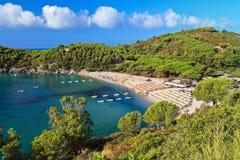 Пляж Fetovaia - остров Эльбы Стоковое Фото