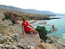 Пляж Filaki стоковое изображение