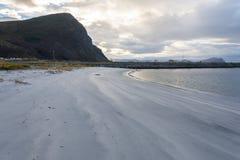 Пляж Flø, Норвегия Стоковая Фотография RF