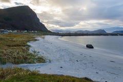 Пляж Flø, Норвегия Стоковые Изображения