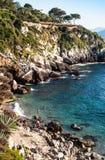 Пляж Francesi, mongerbino, Сицилия стоковое изображение