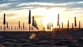 Пляж Fregene Стоковые Изображения RF