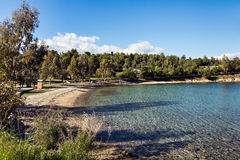 Пляж Galaxidi Стоковая Фотография