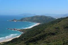 Пляж Galheta, polis ³ FlorianÃ, Бразилия стоковое фото rf