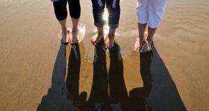 Пляж Gals Стоковое Изображение RF