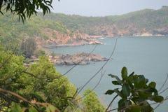 Пляж Gokarna стоковые изображения rf