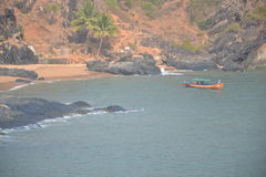 Пляж Gokarna стоковое изображение rf