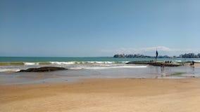 Пляж Guarapari Стоковое Изображение