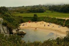 Пляж Gulpiyuri Стоковое фото RF