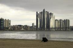 Пляж Gwangalli в Пусане Корее Стоковая Фотография RF
