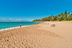 Пляж Haena в острове Кауаи, Гаваи Стоковое Изображение