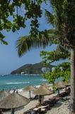 Пляж hai Dadong, Sanya Стоковое фото RF