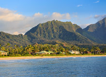 Пляж Hanalei на Кауаи, Гаваи Стоковое фото RF