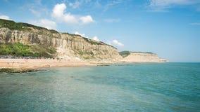Пляж Hastings Англии Стоковое Изображение RF
