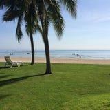 Пляж hin Hua в утре Стоковая Фотография RF