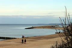 Пляж hlungsborn ¼ KÃ Стоковые Фото