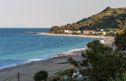 Пляж Horefto, зона Pelion, Греция стоковая фотография rf