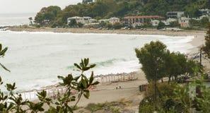 Пляж Horefto, зона Pelion, Греция стоковое фото rf