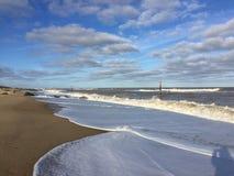 Пляж, Horsey стоковые фотографии rf