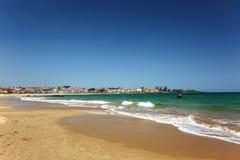 Пляж Hoxa на Испании Стоковые Изображения