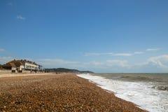 Пляж Hythe, Великобритания, Кент Стоковая Фотография