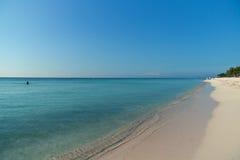 Пляж на Playa del Carmen, Мексике Стоковые Фото