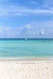 Пляж на Playa del Carmen, Мексике Стоковые Изображения RF
