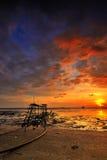 Пляж Jeram Стоковое фото RF