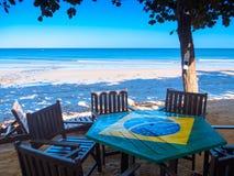 Пляж Jericoacoara стоковое изображение rf