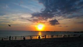 Пляж Jimbaran, Бали Индонезия Стоковое Изображение RF