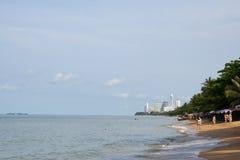 Пляж Jomtien, Паттайя, Таиланд Стоковое Изображение