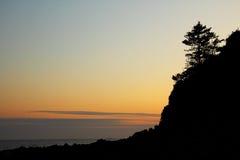 Пляж Junmun - остров Jeju - Южная Корея - романтичный праздник Стоковое фото RF