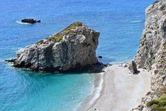 Пляж Kaladi в Kythera Стоковое Изображение