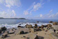 Пляж Kalim в Pangtong, Пхукете Стоковые Изображения RF