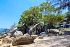 Пляж Kamala, Пхукет, Таиланд Стоковые Изображения RF