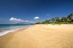 Пляж Kamaole, южный берег Мауи, Гаваи Стоковое Изображение