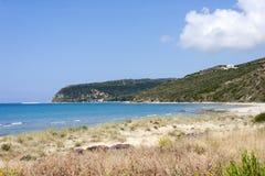 Пляж Kaminia в Kefalonia стоковые фотографии rf