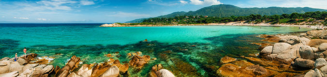 Пляж Karidi в Vourvourou, Sithonia, Греции стоковые фотографии rf