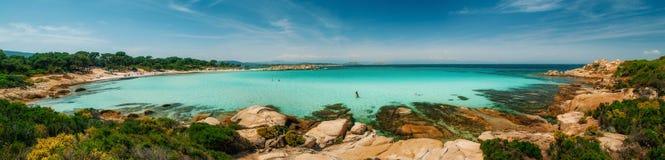 Пляж Karidi в Vourvourou, Sithonia, Греции Стоковое фото RF