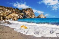 Пляж Kastro, Skiathos, Греция Стоковое фото RF