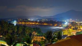 Пляж Kata на ноче Стоковые Изображения