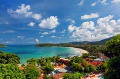 Пляж Kata, Пхукет, Таиланд Стоковые Изображения RF