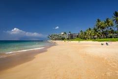Пляж Keawakapu, южный берег Мауи, Гаваи Стоковые Фото